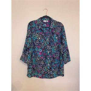 Kim Rogers Multicolored Buttoned blouse Size 1X